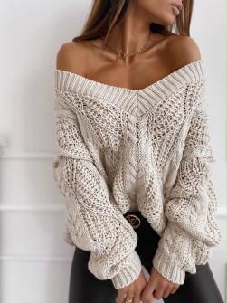 Γυναικείο πουλόβερ 8112 μπεζ