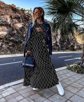 Γυναικείο μακρύ φόρεμα 5079 μαύρο
