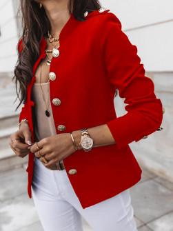 Γυναικείο σακάκι με χρυσά κουμπιά 5326 κόκκινο