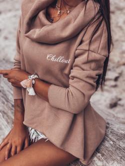 Γυναικείο μπλουζοφόρεμα ζιβάγκο 13644 καπουτσίνο
