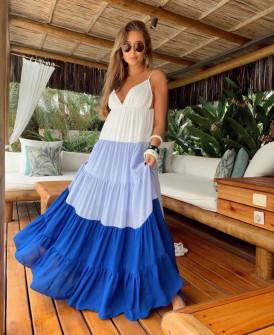 Γυναικείο μακρύ φόρεμα 55563