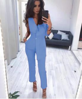 Γυναικεία ολόσωμη φόρμα 20910 γαλάζια