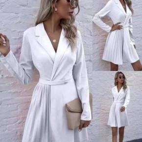 Γυναικείο εντυπωσιακό φόρεμα 8064 άσπρο