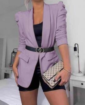 Γυναικείο κομψό σακάκι 3969 μωβ