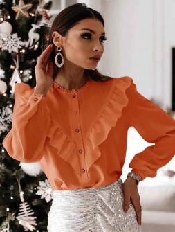 Γυναικείο πουκάμισο με εντυπωσιακό ντεκολτέ 3963 κοραλί