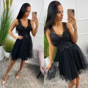 Γυναικείο φόρεμα με τούλι και δαντέλα 8370