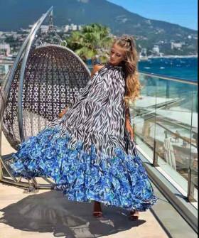 Γυναικείο εντυπωσιακό χαλαρό φόρεμα 2122208