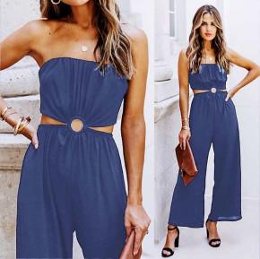 Γυναίκεια εντυπωσιακή ολόσωμη φόρμα 2354 σκούρο μπλε