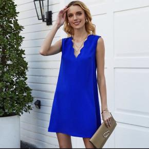 Γυναικείο φόρεμα με βαθύ ντεκολτέ 5198 μπλε