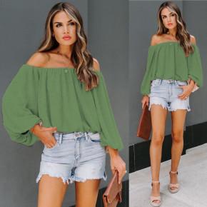 Γυναικεία έξωμη μπλούζα 2404 πράσινη