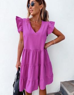 Γυναικείο φόρεμα πουά 2192 φούξια