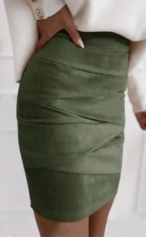 Γυναικεία σουέτ φούστα 5367 χακί