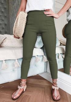 Γυναικείο εφαρμοστό παντελόνι 1797  σκούρο πράσινο