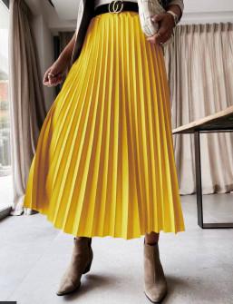 Γυναικεία φούστα σολέιγ 5644 κίτρινη