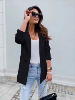 Γυναικείο σακάκι με φόδρα 5863 μαύρο