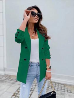 Γυναικείο σακάκι με φόδρα 5863 πράσινο