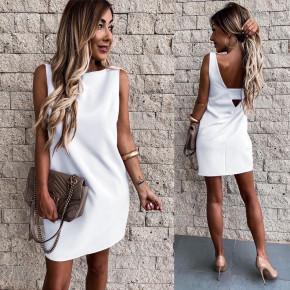 Γυναικείο εξώπλατο φόρεμα 3631 άσπρο