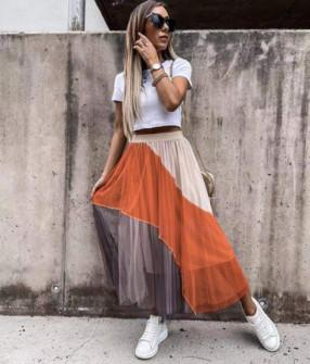 Γυναικεία φούστα τούλι 55537 κόκκινο