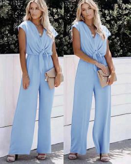 Γυναικεία χαλαρή ολόσωμη φόρμα 5689 γαλάζια
