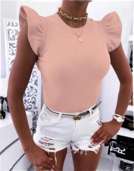 Γυναικεία μπλούζα με εντυπωσιακό μανίκι 2197 ροζ