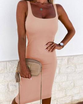 Γυναικείο εφαρμοστό φόρεμα 3333 ροζ