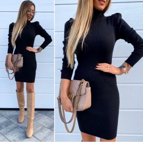 Γυναικείο φόρεμα ζιβάγκο 3466 μαύρο