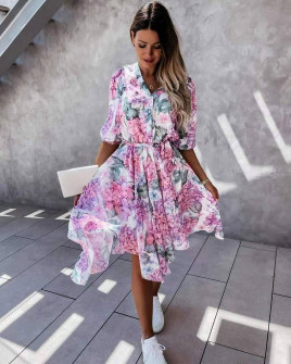 Γυναικείο ασύμμετρο φόρεμα 2129502