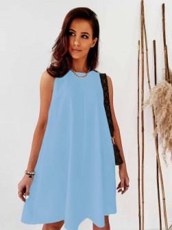 Γυναικείο χαλαρό φόρεμα 5748 γαλάζιο