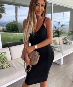 Γυναικείο φόρεμα ριπ 4301 μαύρο