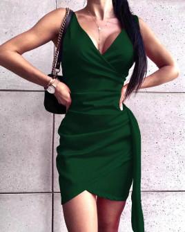 Γυναικείο εφαρμοστό φόρεμα 8237 πράσινο
