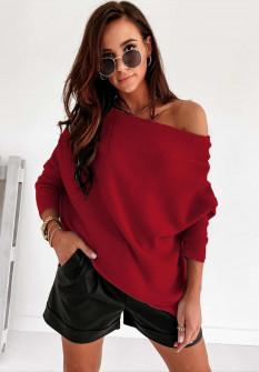 Γυναικεία έξωμη μπλούζα 2599 κόκκινη