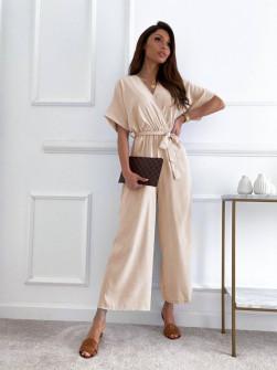 Γυναικεία ολόσωμη φόρμα 14724 μπεζ