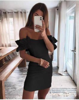 Γυναικείο εντυπωσιακό φόρεμα 6211 μαύρο