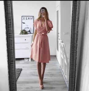 Γυναικείο φόρεμα με ζώνη 1978 ροζ