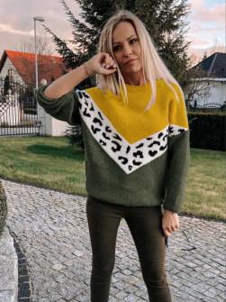 Γυναικείο πουλόβερ 71006 χακί