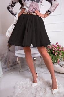 Γυναικεία κλος φούστα 3575  μαύρη