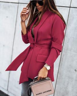 Γυναικείο σακάκι χωρίς φόδρα 8691 μπορντό