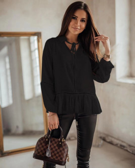 Γυναικείο εντυπωσιακό πουκάμισο 5486 μαύρο