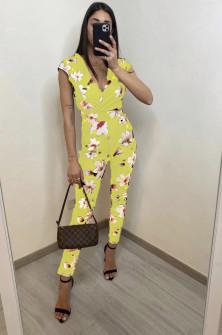 Γυναικεία ολόσωμη φόρμα 2308 κίτρινη