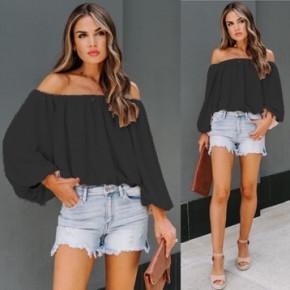Γυναικεία έξωμη μπλούζα 2404 μαύρη