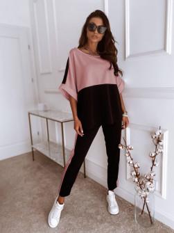 Γυναικείο δίχρωμο σετ 14509 ροζ