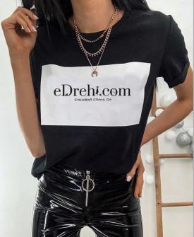 Γυναικείο κοντομάνικο Edrehi 3510 μαύρο