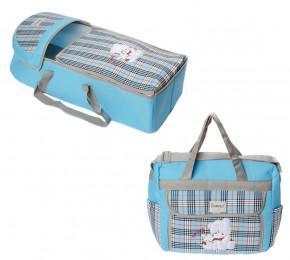 Σετ πορτ μπεμπέ και τσάντα 00454 μπλε