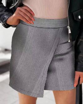 Γυναικεία φούστα πτι καρό 595601