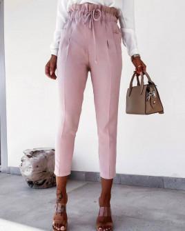 Γυναικείο ελαστικό παντελόνι 2126 ροζ