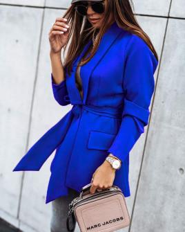 Γυναικείο σακάκι χωρίς φόδρα 8691 μπλε