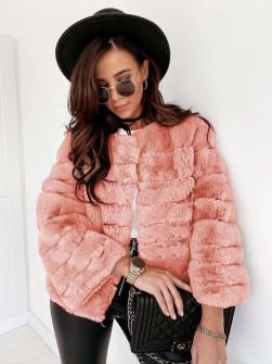Γυναικείο γούνινο παλτό 2579 ροζ