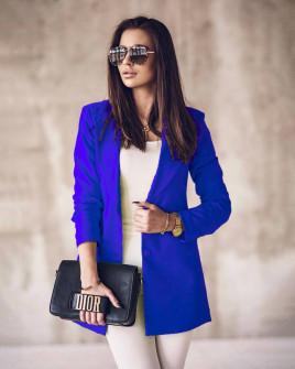 Γυναικείο κομψό σακάκι 8061 μπλε