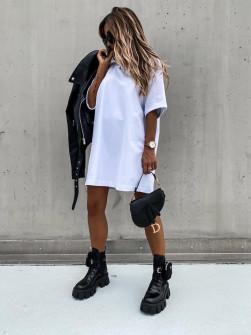 Γυναικείο μπλουζοφόρεμα 13780 άσπρο