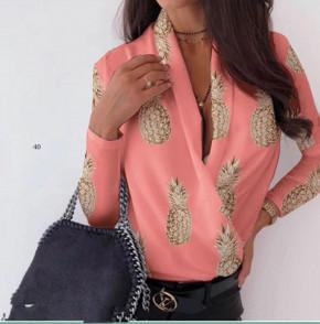 Γυναικεία μπλούζα κρουαζέ 502002 κοραλί